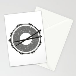 Drum with drumsticks Stationery Cards