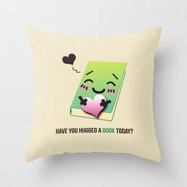 Book Emoji Love Throw Pillow