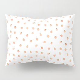 Sweet Peach Polka Dot, White Pillow Sham