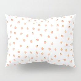 Sweet Peach Polka Dot, White Pillow Sham