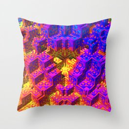 Psychedlic Pstairs Throw Pillow