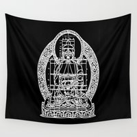 sacred geometry Wall Tapestries featuring Sacred Geometry by Hazel Bellhop