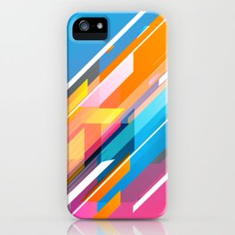 Neon burst iPhone Case