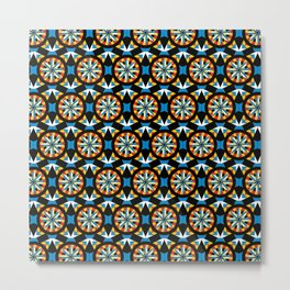 Geometric Pattern III - Festiv Metal Print