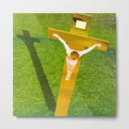 Shadow of The Christ Metal Print