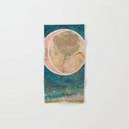 Pink Eco Print Moon Hand & Bath Towel