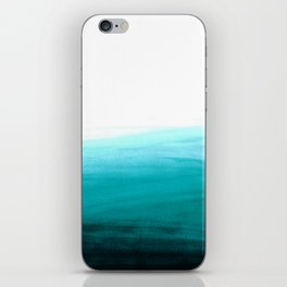 Ombre background in turquoise iPhone Skin