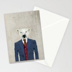 mr polar bear Stationery Cards