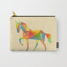 Fractal Geometric Unicorn Carry-All Pouch