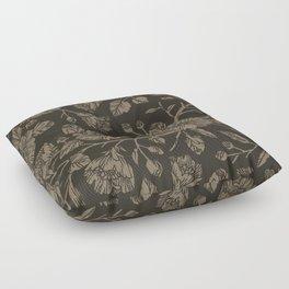 Midnight Blooms Floor Pillow