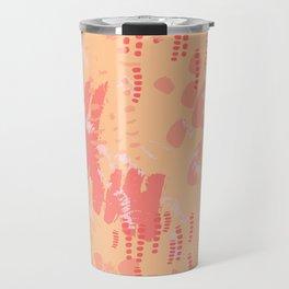 Pink & Peach Animal Tracks in Wilderness Travel Mug