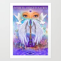 When Angels Cry Art Print
