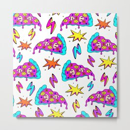 Crazy space alien pizza attack! Metal Print