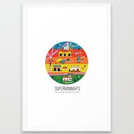 Minimap Ciudad de México by Victoria Fernández Framed Art Print