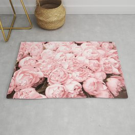 I love Pink Roses pastel photography Rug