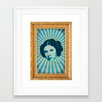 leia Framed Art Prints featuring Leia by Durro