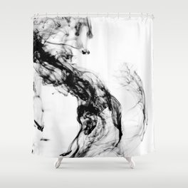 MONOCHROME MARBLE / INDIAN INK IN WATER Shower Curtain