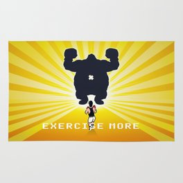 Exercise more. A PSA for stressed creatives. Rug