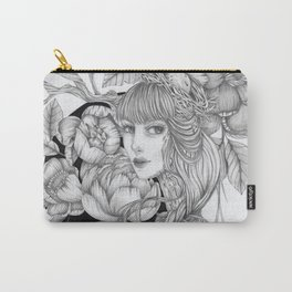 JennyMannoArt GRAPHITE DRAWING/SAGE Carry-All Pouch