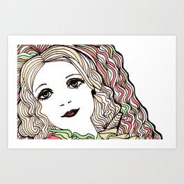 Daisy in Love Art Print