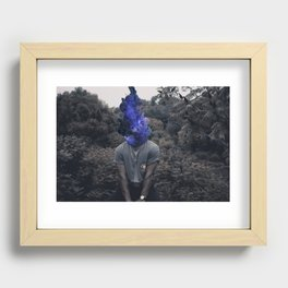 Overthinking may cause smoking Recessed Framed Print