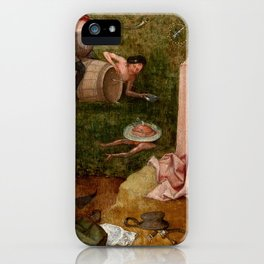 """Hieronymus Bosch """"Allegory of Gluttony"""" iPhone Case"""