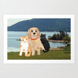 Bailey and Buds Art Print