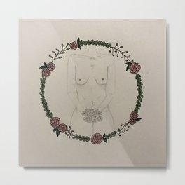Naked Lady Metal Print