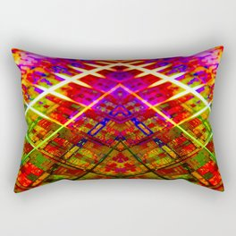 Computer Circuit Board Kaleidoscopic Design Rectangular Pillow