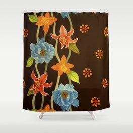 Vintage Flowery Serpentine Shower Curtain