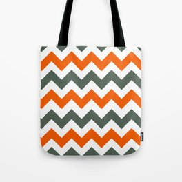 Chevron Pattern In Russet Orange Grey and White Tote Bag