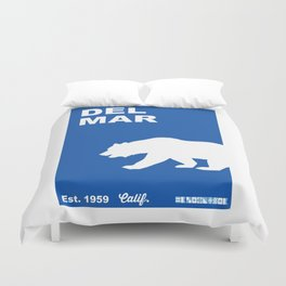 Del Mar - California. Duvet Cover