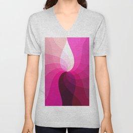 Monochromatic red purple Unisex V-Neck