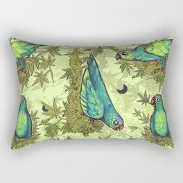Parrots & Weeds Rectangular Pillow