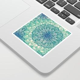 Emerald Doodle Sticker