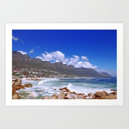 Cape Town, Camps Bay Art Print