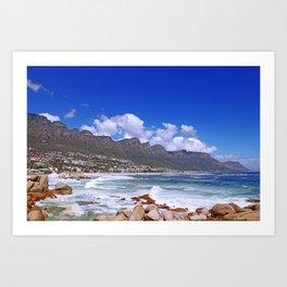 Cape Town, Camps Bay Art Print