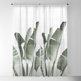 Traveler palm Sheer Curtain