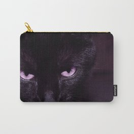 Black Cat in Amethyst - My Familiar Carry-All Pouch