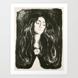 Edvard Munch - The Brooch, Eva Mudocci, 1903 Art Print