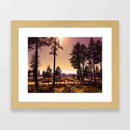 Tahoe Twilight Framed Art Print