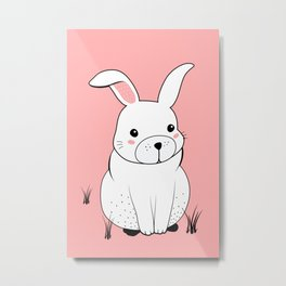 Bunny print Metal Print