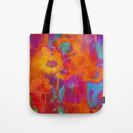 bright abstract bouquet Tote Bag