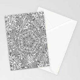 Detailed Mandala Frenzy Black and White Stationery Cards