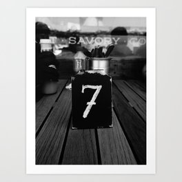 No. 7 Art Print
