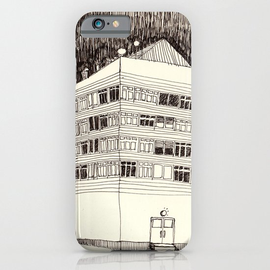 Building at Night with the Moon iPhone & iPod Case