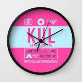 Luggage Tag B - KUL Kuala Lumpur Malaysia Wall Clock