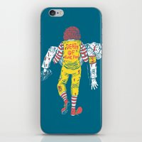 junk food iPhone & iPod Skins featuring Death Of Junk Food by ERROR Design