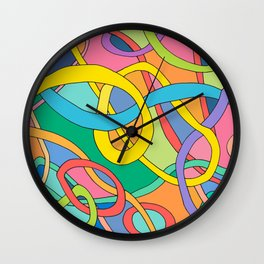 color curved lines Wall Clock