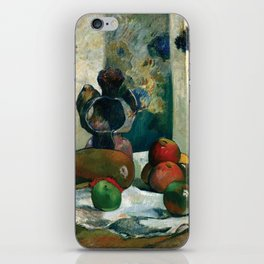 Still Life with Profile of Laval by Paul Gauguin iPhone Skin